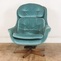 Vintage Egg Chair Side End Table Retro Mid Century Swivel And Footstool