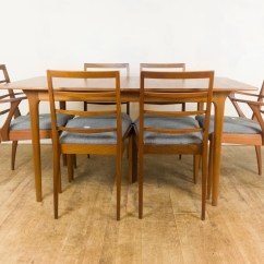 Retro Dining Table Chairs Uk Grey Mesh Office Chair Vintage Teak Extending And 6 By