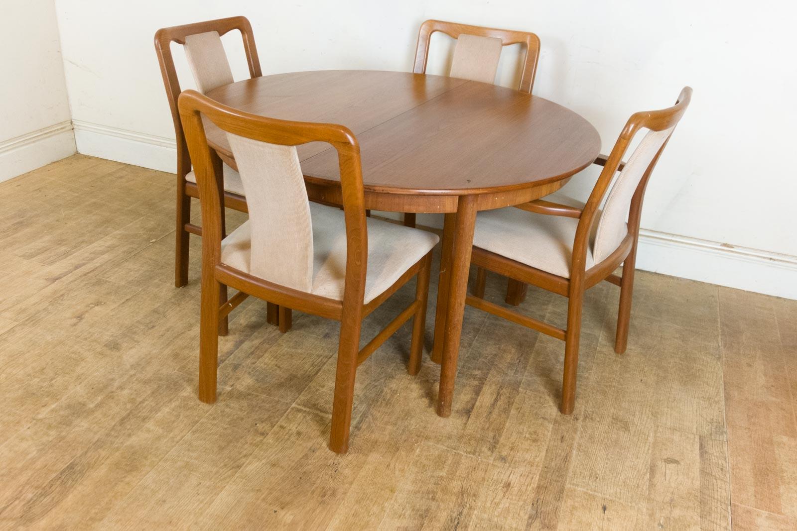 retro dining table chairs uk bodybilt stretch ergonomic chair (j2509 and j3509) vintage danish extending 6