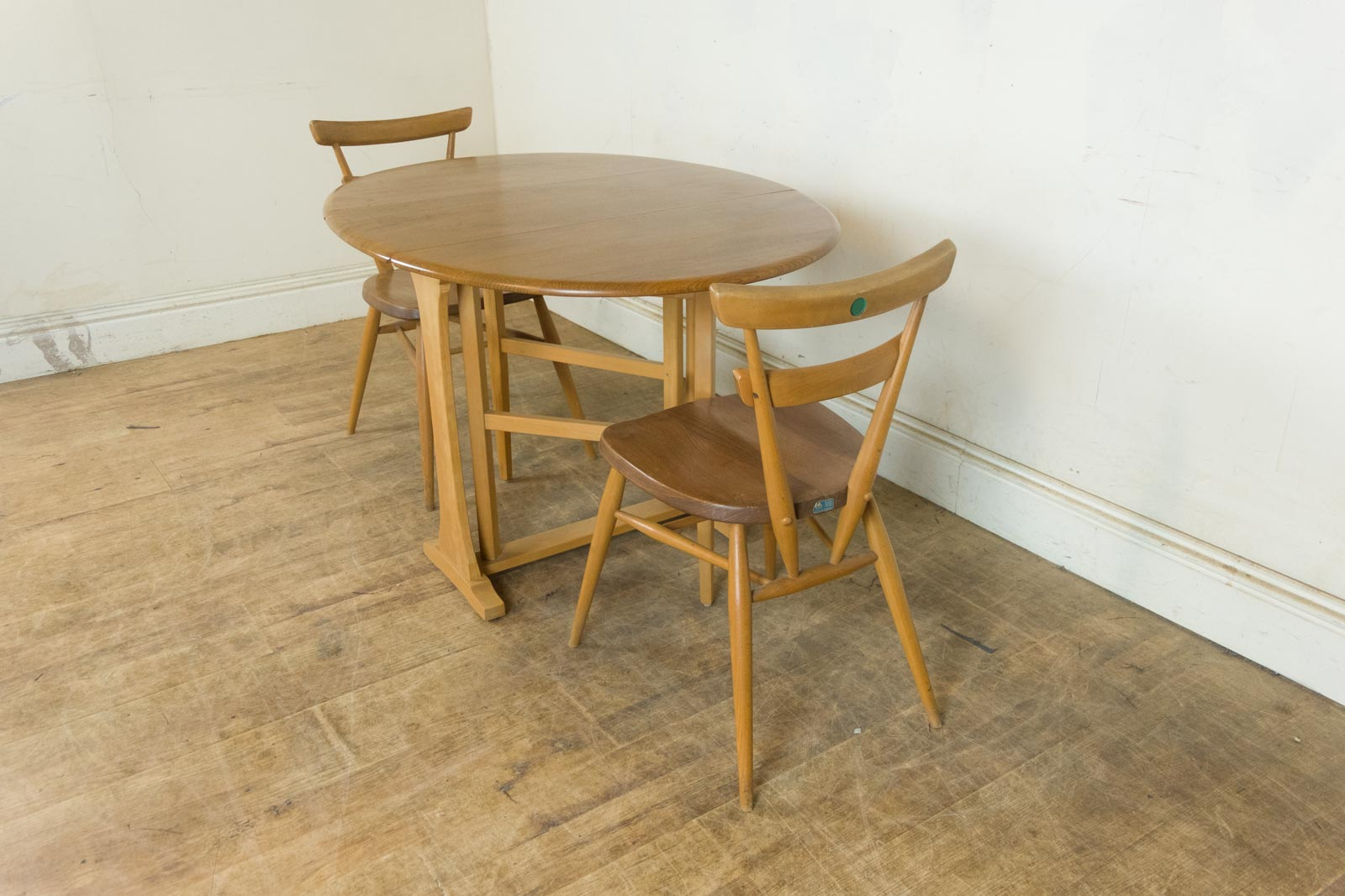Small Drop Leaf Table With 2 Chairs Vintage Retro Small Ercol Drop Leaf Light Elm Table And 2