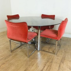 Retro Dining Room Table And Chairs Office Chair Very Vintage Pieff Glass Chrome 6