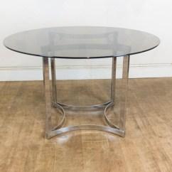 Retro Dining Table Chairs Uk Purple Rocking Chair Vintage Merrow Associates Smoked Glass