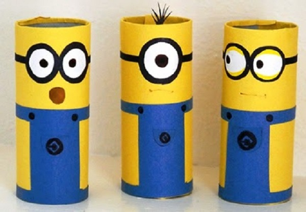 Tempat pensil flanel minion  Minion Pencil Case