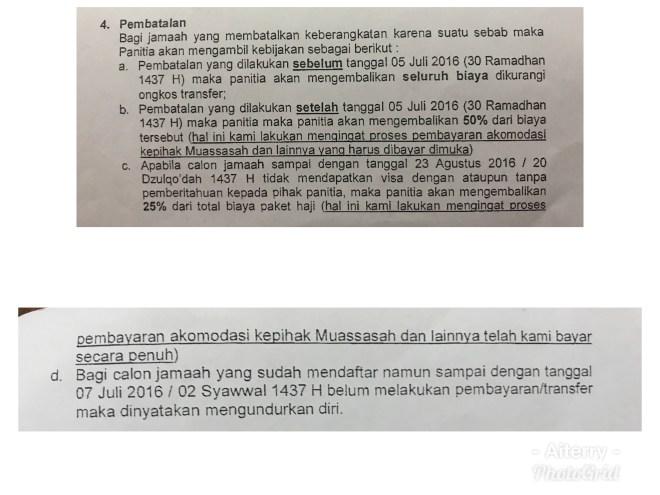 Surat perjanjian dari Koperasi