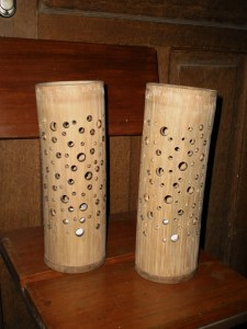 Kerajinan Lampu Hias dari Bambu  Wayang dan Souvenir