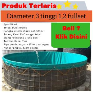 jual kolam terpal diameter 3