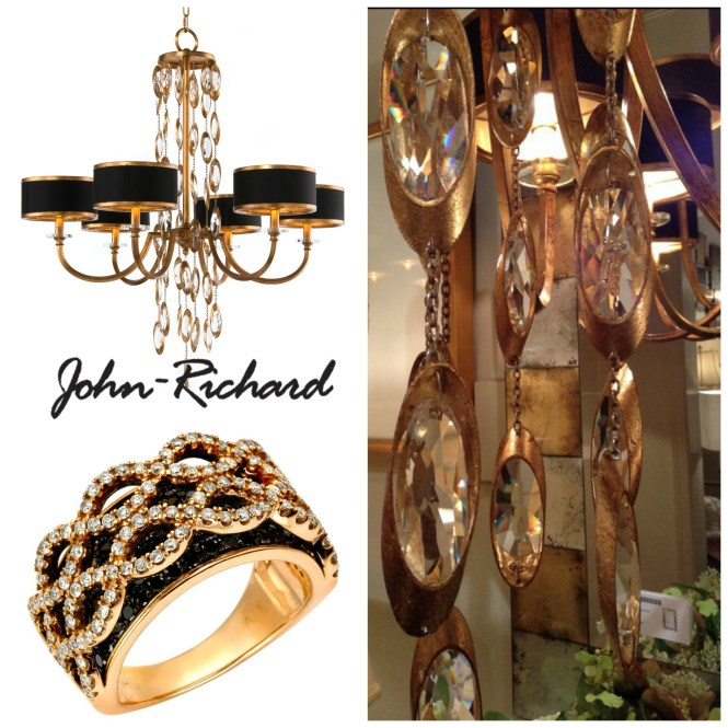 John Richard Collection Black Ties Chandelier With A Ring