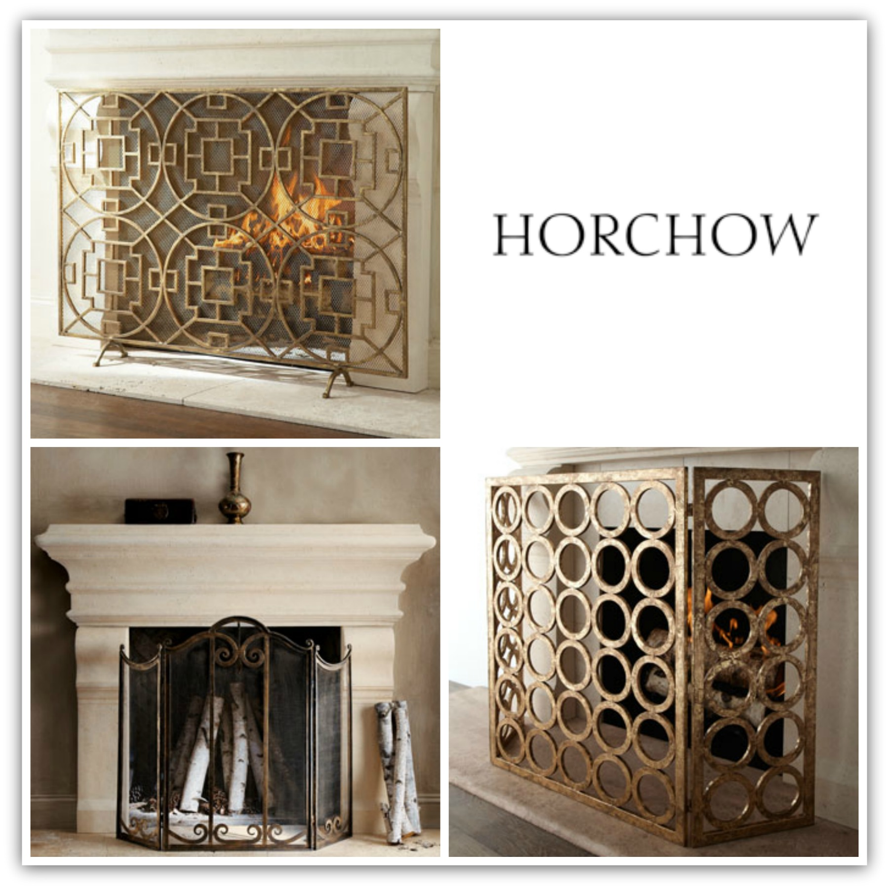 Beautiful Fireplaces With Lovely Screens