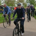 Tom Tugendhat with a bicycle