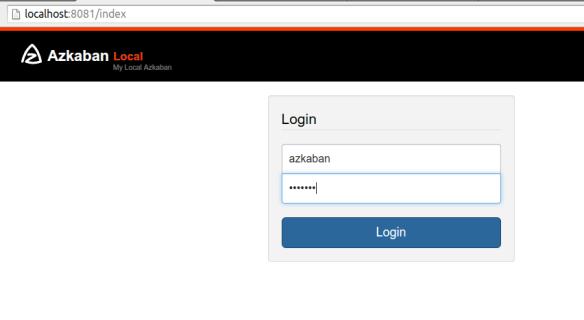 Azkaban Web UI