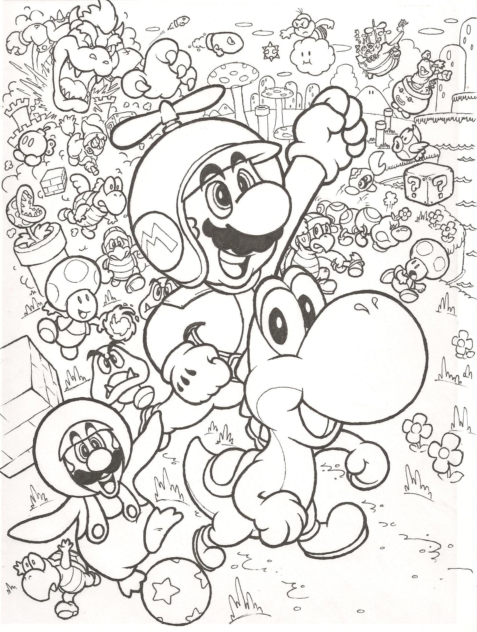 Artwork do dia: New Super Mario Bros. Wii retro-style