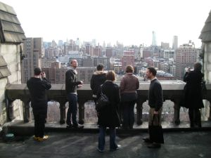 On the roof of Cathedral Church of Saint John the Divine