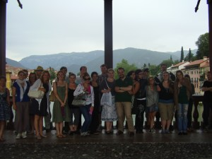 Photo opp on the Palladio bridge at Bassano