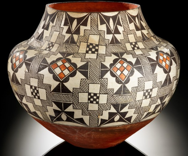 Acoma polychrome jar - ca. 1900–1920-William M. Fitzhugh Collection