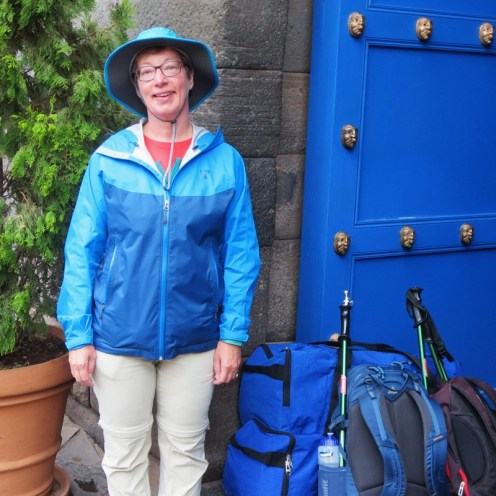 Waiting to be picked up by Mountain Lodges of Peru
