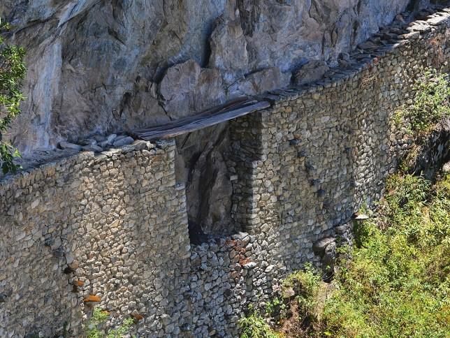 Inca Bridge at Machu Picchu