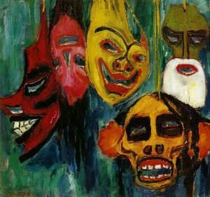 Emil Nolde - Masks Still Life lll, 1911