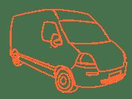 Camion orange cadre
