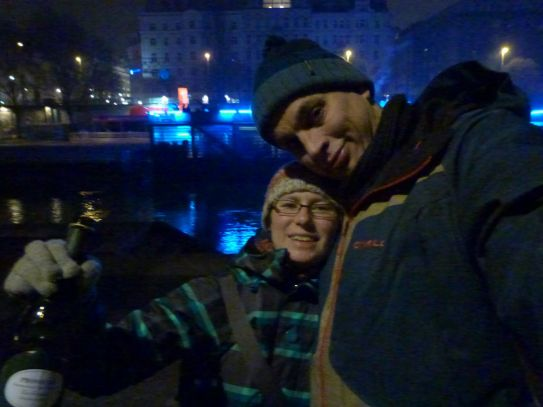 Prosit Neujahr vom Donaukanal!
