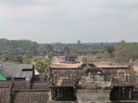 Blick von oben in das Stadtareal