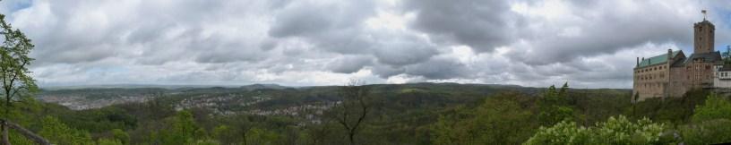 Blick von der Wartburg über den Thüringer Wald