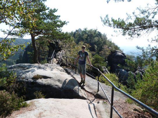 Den Schrammsteingrat entlang