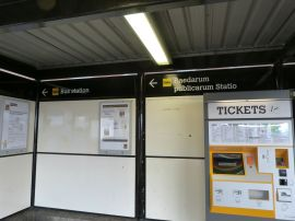 In der U-Bahn-Station von Wallsend/Segedunum spricht man Latein