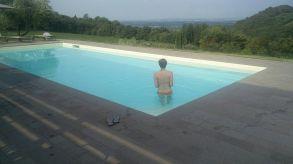 Unsere Tage begannen und endeten mit einem Bad im Pool