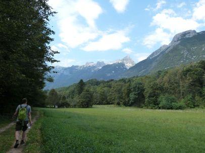Rückweg vom Boka-Wasserfall nach Bovec