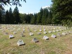 Wieder unzählige Gräber auf dem Soldatenfreidhof bei Bovec - über 600 Gefallene