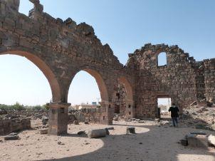Eine der zahllosen Kirchen in Umm el-Jimal