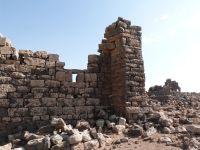 Ein nachträglich in der Umayyadenzeit angebautes Minaret in Umm el-Jimal