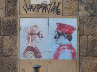 Auch die Street Art macht hier ganz auf Renaissance Kunst