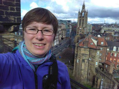 Auf dem Dach des Burgfrieds