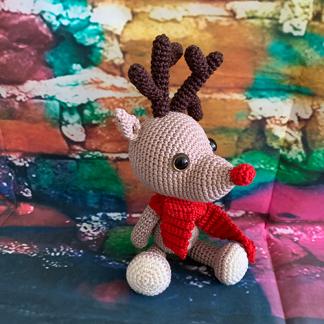 Handgefertigtes Einzelstück - MissTicreations - Renntier Rudolf