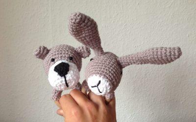 Hæklet bamse- og kaninrangle