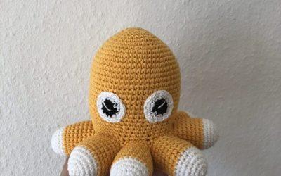 Hæklet blæksprutte med 8 arme