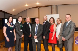 Everyone who spoke at the Rare Diseases Day reception at the Scottish Parliament in 2014 (Claire Tennant Photography)