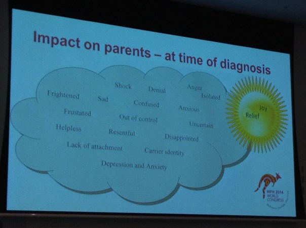 Diagnosis can have a big impact on parents