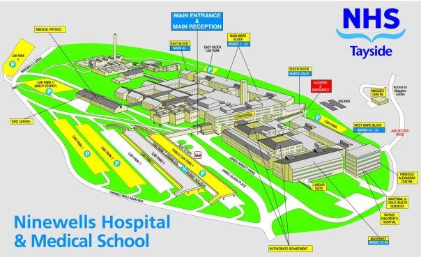 Ninewells Campus Map