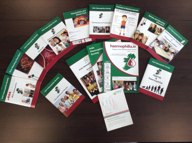 The Irish Haemophilia Society produce and vast range of publications and booklets for people affected by bleeding disorders.