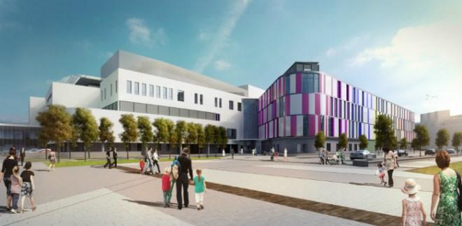 Artists impression of the new Edinburgh Sick Kids Hospital