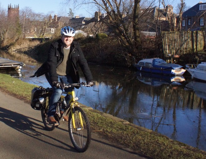 Dan is clocking up his Miles for Haemophilia around Edinburgh.