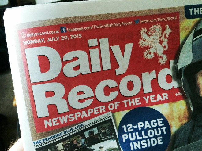 Daily Record Cover