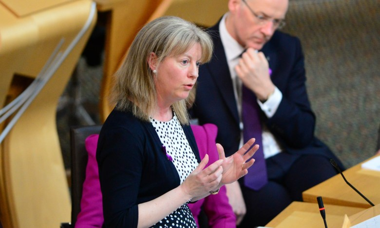 Shona Robison in the Scottish Parliament