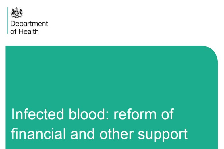 DH - Infected blood reform of financial and other support consultation