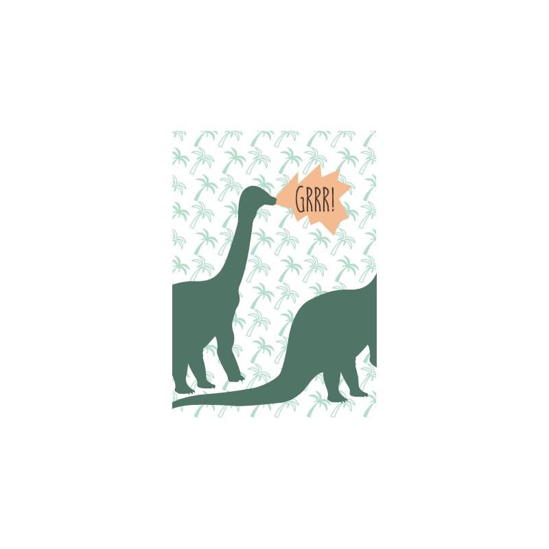 8 invitations anniversaire dinosaure