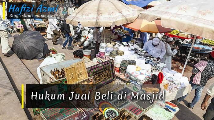 Hukum jual beli di masjid