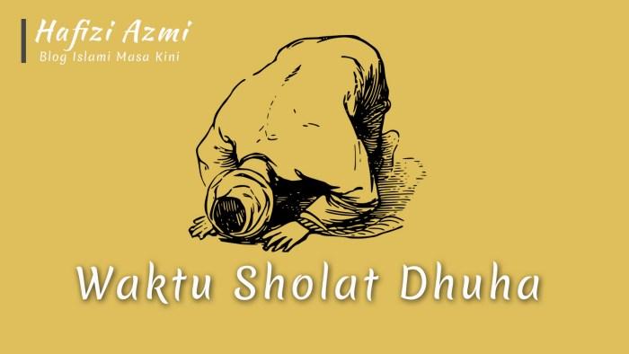 Kapan Dimulai dan Batas Waktu Sholat Dhuha Jam Berapa?