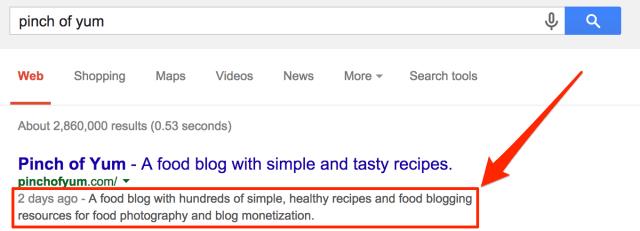 Search Results Meta Description